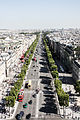 Champs-Élysées from the Arc de Triomphe, Paris 20 August 2013 001.jpg