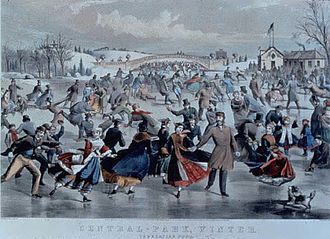 "Nathaniel Currier - Image: Charles R. Parsons, ""Central Park, Winter The Skating Pond"""