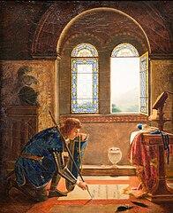 Charles VII écrivant ses adieux à Agnès Sorel