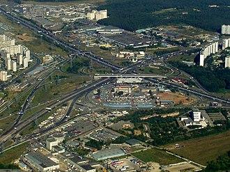 Chertanovo - Modern view of Chertanovo: Moscow Ring Road interchange with M2 highway