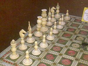 Raja Dinkar Kelkar Museum - Chess set in the museum