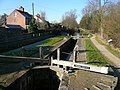 Chesterfield Canal - Viewed from Bridge at Cinderhill Lock No 41 - geograph.org.uk - 332614.jpg