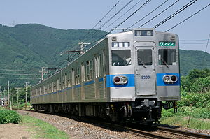 Toei 6000 series - A Chichibu Railway 3-car 5000 series set in June 2011