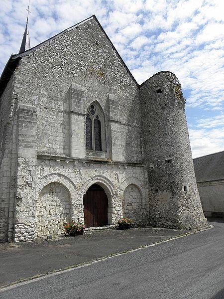 Église Saint-Pierre et Saint-Paul de Chigné(49). Façade occidentale.