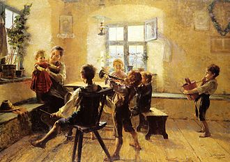 Chidira - G. Jakobides, The Children's Concert (1894). Oil on canvas, 176 εκ. x 250 εκ. National Gallery of Greece