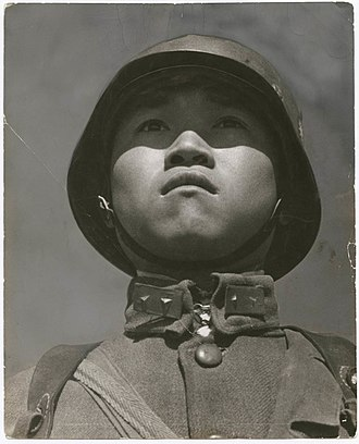 "Robert Capa - ""Chinese Soldier"" by Capa"