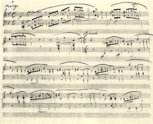 Beginning of Ballade Nr.1 of Frédéric Chopin -...