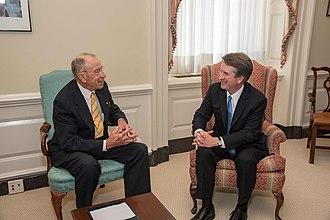 Brett Kavanaugh Supreme Court nomination - Kavanaugh with Chuck Grassley