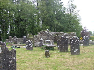 Bishop of Ardagh - Church of St Mel, view across the graveyard. June 2013
