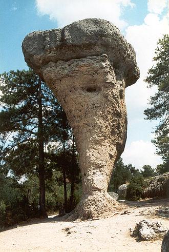 Ciudad Encantada - A mushroom rock, Ciudad Encantada.
