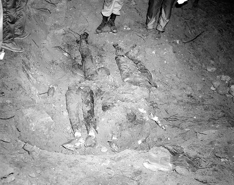 Bodies of Chaney, Goodman, and Schwerner