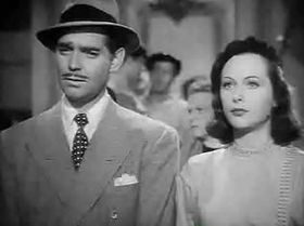 Clark Gable and Hedy Lamarr in Comrade X trailer.JPG