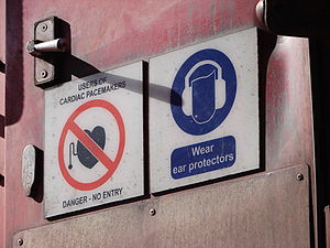 South African Class 15E - Safety signs on Class 15E rear door