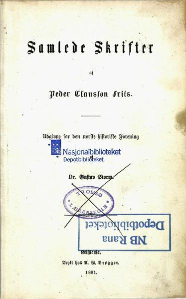 File:Claussøn Friis Samlede Skrifter.djvu