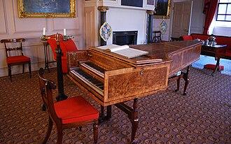 Burkat Shudi - The harpsichord Shudi built for King George III. Click to enlarge.
