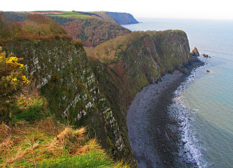 North Devon's Biosphere Reserve - The South West Coast Path follows the North Devon Coast past these cliffs at Clovelly.