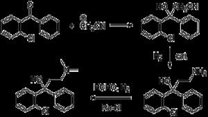 Clofedanol - Image: Clofedanol synthesis