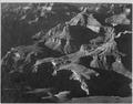 """Close in view, looking down toward peak formations, """"Grand Canyon National Park,"""" Arizona., 1933 - 1942 - NARA - 519884.tif"""