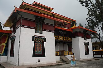 Enchey Monastery - Image: Close view of Enchey Gompa in Gangtok