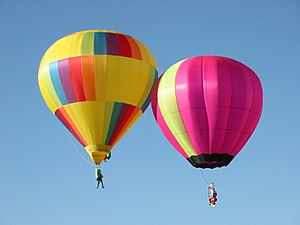 Hopper balloon - A pair of hopper balloons