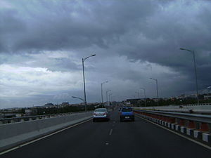 Hosur Road - Image: Cloudy day Hosur eway