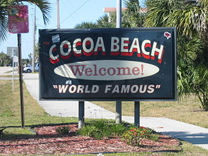Cocoa Beach sign