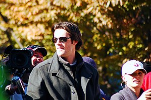 Cole Hamels - Cole Hamels in World Series victory parade on October 31, 2008