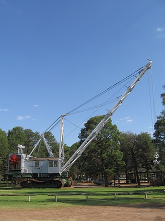 Coleambally - The Bucyrus Class Dragline at Coleambally. This is one of four used to excavate the main irrigation channels in the area.