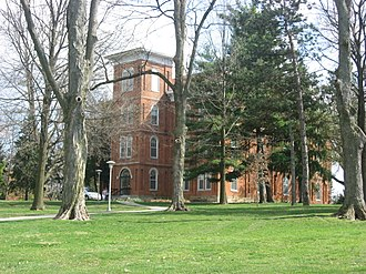 National Register of Historic Places listings in Clinton County, Ohio - Image: College Hall at Wilmington College
