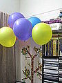 Colorful balloons and book self 03.JPG