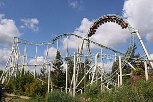 Colossus (Thorpe Park) - View of Colossus
