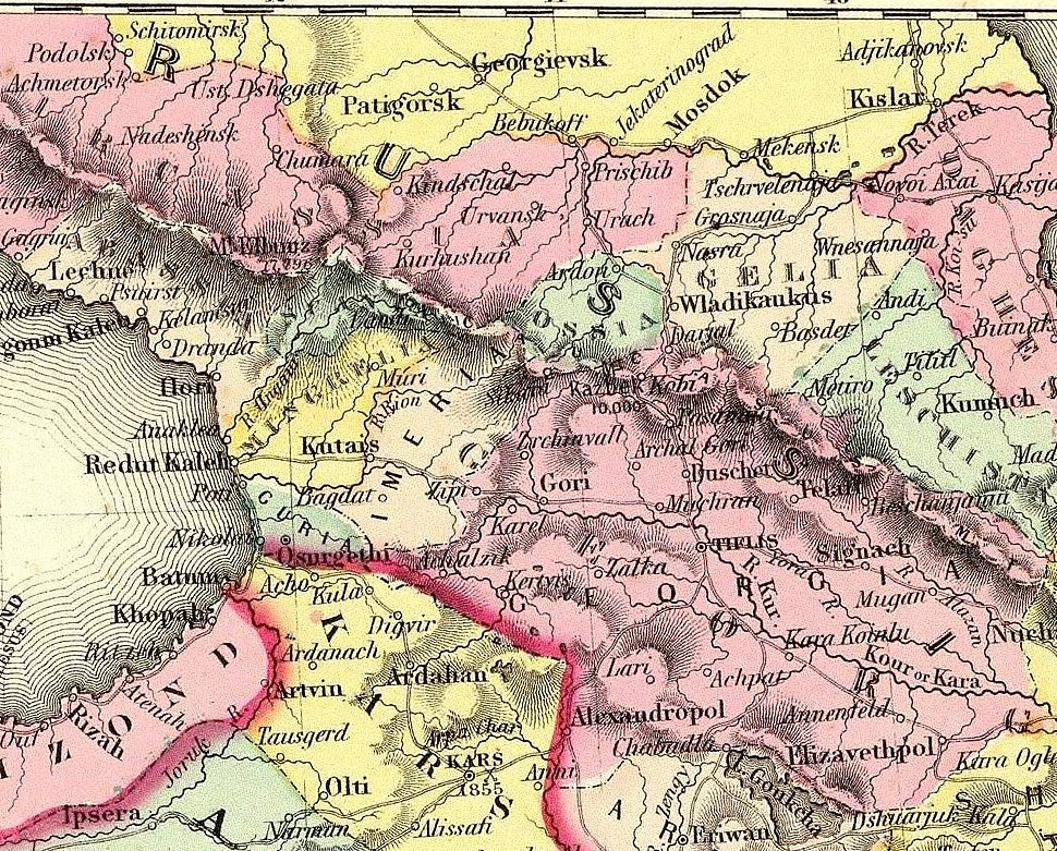 Colton, G.W. Turkey In Asia And The Caucasian Provinces Of Russia. 1856 (BB)