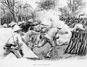 Second Franco-Dahomean War - Image: Combat de Dogba 1892