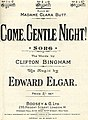 Come Gentle Night song by Elgar cover 1901.jpg