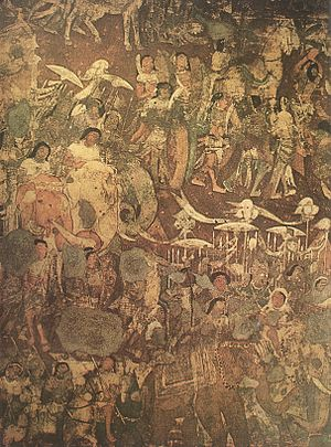 Prince Vijaya - Image: Coming Of Sinhala (Mural At Ajanta In Cave No 17)