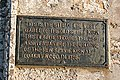 Commemorative Plaque in Spynie Kirkyard - geograph.org.uk - 1063045.jpg