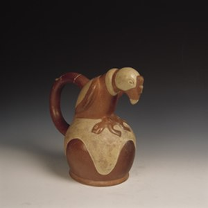 Andean civilizations - The Moche culture is world-renowned for its pottery, in picture a Condor from about 300 AD.