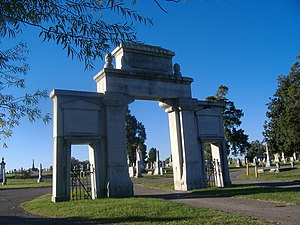 Confederate Memorial Gateway in Hickman - Image: Confederate Memorial Gateway in Hickman