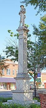 Confederate soldier memorial, Douglas, GA, US