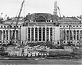 Construction progress on Legislative Building, main facade, Washington State Capitol group, Olympia, October 7, 1924 (WASTATE 1901).jpg