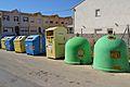 Contenidors de reciclatge a Beniarrés, el Comtat.JPG