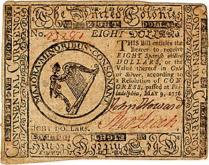 Continental Currency $8 banknote obverse (May 9, 1776).jpg