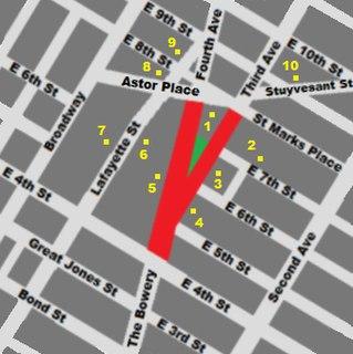 Cooper Square square in Manhattan, United States