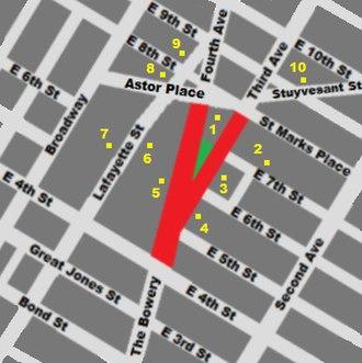 Cooper Square - Image: Cooper Square map locations