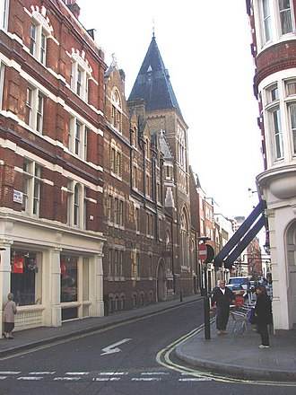 Maiden Lane, Covent Garden - Maiden Lane showing Corpus Christi Roman Catholic Church.