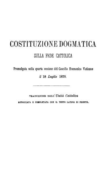 File:Costituzione dogmatica sulla fede cattolica 18 luglio 1870 (Pio IX).djvu