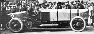 Brooklands - Count Zborowski with Chitty Bang Bang 1 at Brooklands, 1921.