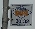 Cowes Ward Avenue bus stop flag 2.JPG