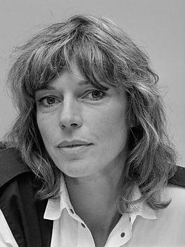 Habbema bij haar benoeming tot directeur van de Stadsschouwburg Amsterdam (1986)