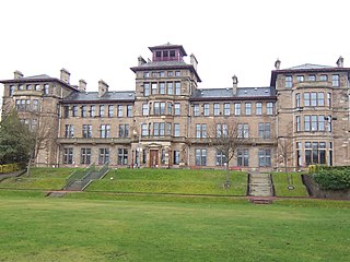 Craiglockhart Hydropathic Hospital and later university building in Edinburgh, Scotland, UK